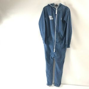 One Piece Ski Trip Men's Vintage Blue Mel Jumpsuit